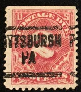 J62 Postage Due 2c, 11 perf., NWM, carmine, Single, Vic's Stamp Stash