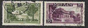 Viet Nam Set-54b  (2)  USED, Stamps Sc-1 & Sc-2