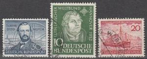 Germany #688-90 F-VF Used CV $22.75 (D84)
