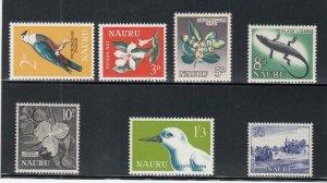 NAURU (MM205) # 49-55  VF-MNH  VARp,sh 1963-65 BIRDS,FLOWERS ++ CV $11