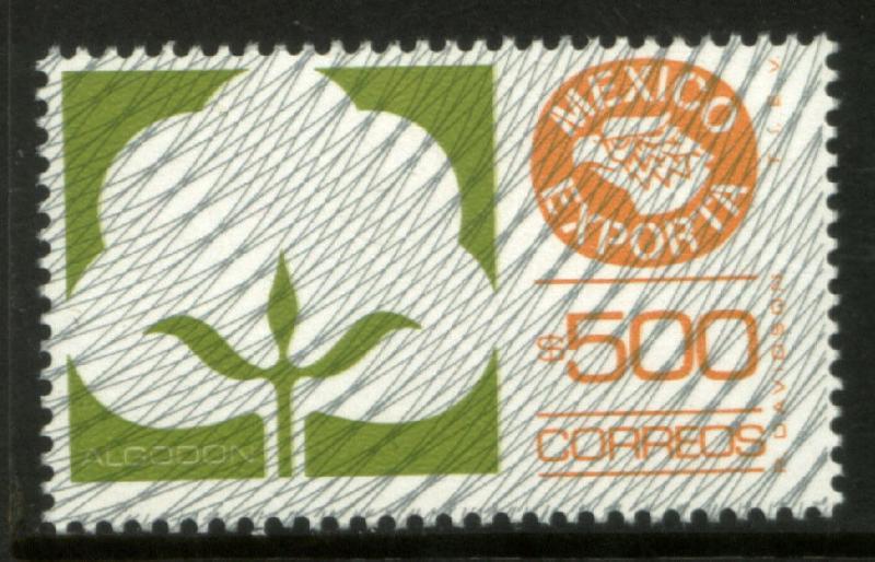 MEXICO Exporta 1138 $500P Cotton Fluor Paper 8 MINT, NH. VF.