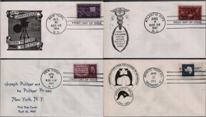 US First Day and Commemorative Covers #926, 946, 949, 1431