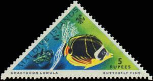 1963 Maldive Isalnds #109-116, Complete Set(8), Never Hinged