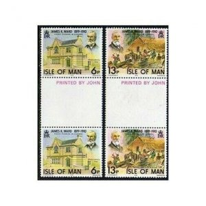 Isle of Man 137-138 gutter,MNH.Michel 129-130. James Ward in Canada.1978.Library