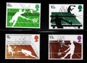 Great Britain Scott 802-805 MNH** 1977 Racket Sports set