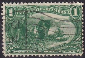 US #285 F-VF Used CV $7.00 (A19535)