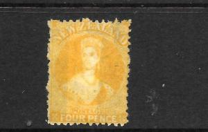 NEW ZEALAND  1865-71  4d  YELLOW  FFQ  MNG  P12 1/2    SG 120  CPa4b4 CHALON