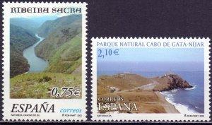 Spain. 2002. 3729-30. Landscape. MNH.