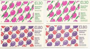 GB 1988 Childrens Parties Series FL14A/B + FU8A/B All Selvedges Cat£25 (4)