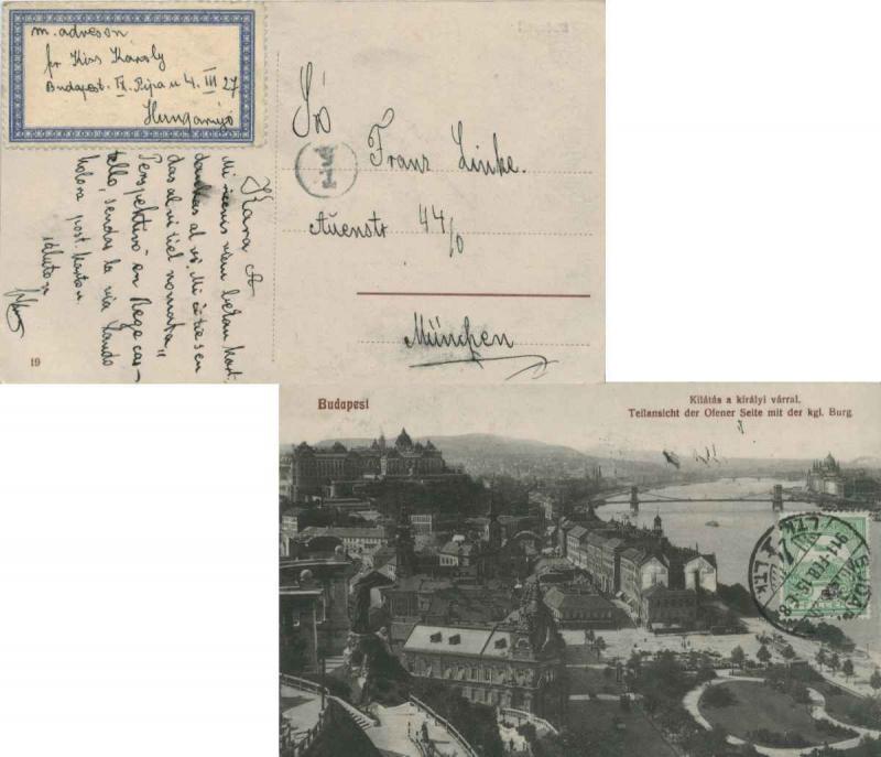Hungary 5f Turul And Crown 1911 Budapest 4 Ppc Kilatas A Kiralyi