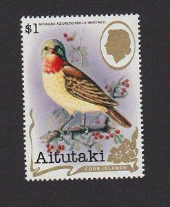 Aitutaki Cook Islands 246A VF MNH $1 Birds