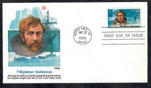 2222 Polar Explorer Unaddressed Fleetwood FDC