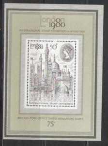 Great Britain Sc 909a 1980 London View stamp sheet mint NH