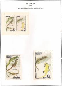 SCOTLAND - BERNERA - 1982 - Lizards - 2v Perf, Min, D/L Sheets - MLH