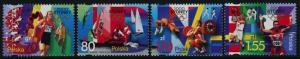 Poland 3544-7 MNH Summer Olympics, Sports, Sailing, Basketball, Judo, Rowing