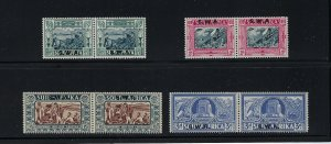SOUTH WEST AFRICA SCOTT #B5-B8 1938 VOORTREKKER TERCENTENARY -MINT LH/HR