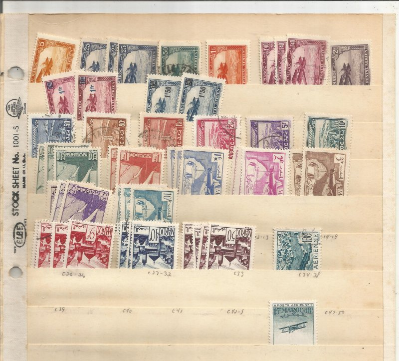 MOROCCO COLLECTION ON STOCK SHEET, MINT/USED