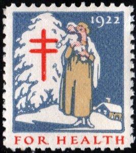 WX30 Christmas Seal (1922) MNH/Fault