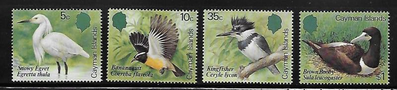 Cayman islands 1984 Local Birds Kingfisher egret booby MNH A428