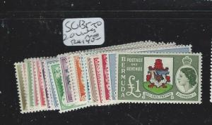 BERMUDA (P3007B) QEII SG163-179  MOG