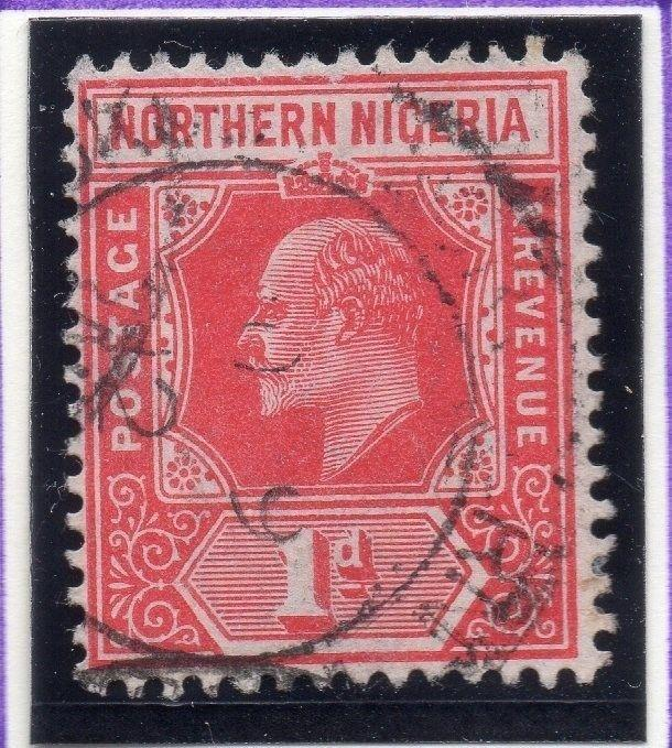 Northern Nigeria 1912 Early Issue Fine Used 1d. 055587