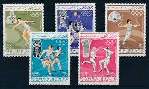 [95436] Aden Mahra State 1967 Olympic Games Mexico Gymnastics Basketball  MNH