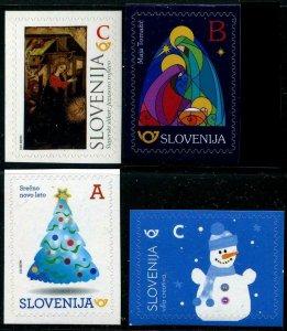 HERRICKSTAMP NEW ISSUES SLOVENIA Sc.# 1248, 1249, 1252, 1253 Christmas 2017 S/A