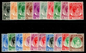 MALAYSIA - Penang SG3-22, COMPLETE SET, M MINT. Cat £140.