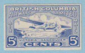CANADA - BRITISH COLUMBIA AIRWAYS  CL44  MINT HINGED OG * NO FAULTS EXTRA FINE!