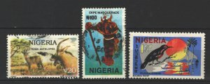 COLLECTION LOT # 3510 NIGERIA 3 STAMPS 1965+ CV+$20