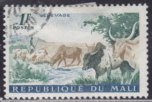 Mali 17 CTO 1961 Herding Cattle