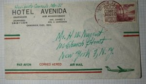 Mexico Hotel Avenida Chihuahua Stationary Airmail 80c Logo Sc# C194 or C213