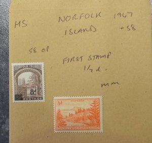 NORFOLK ISLAND   Stamps  Coms   1947 - 58   ~~L@@K~~