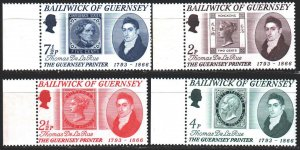 Guernsey. 1971. 54-57. Stamps on stamps, company de la rue. MNH.