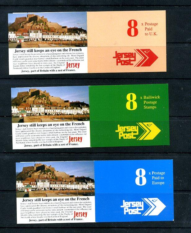Jersey 614-625 All three Complete Booklets Mint
