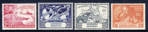 Northern Rhodesia - Scott #50-53 - MNH - Gum toning #53 - SCV $5.00