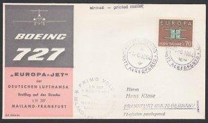 ITALY 1964 Lufthansa first flight cover to Frankfurt........................F957