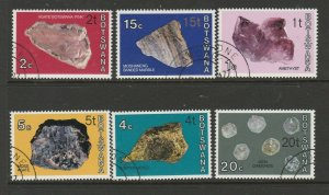 Botswana 1976/7 Opts, the 6 Type 2 Opts, FU SG 367a/375a