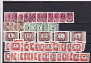 hungary postage due mm+used stamps ref 12582