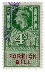 (I.B) George VI Revenue : Foreign Bill 4/-