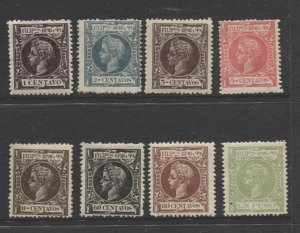 S.S.PERTH Philippines #198-199,201,203,208-210- MVLH King Alfonso XIII CV$40.00