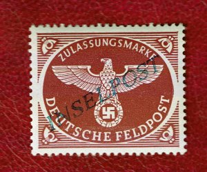 1944 GERMANY WW2 FELDPOST INSELPOST Agramer #10A  PERFECT MNH