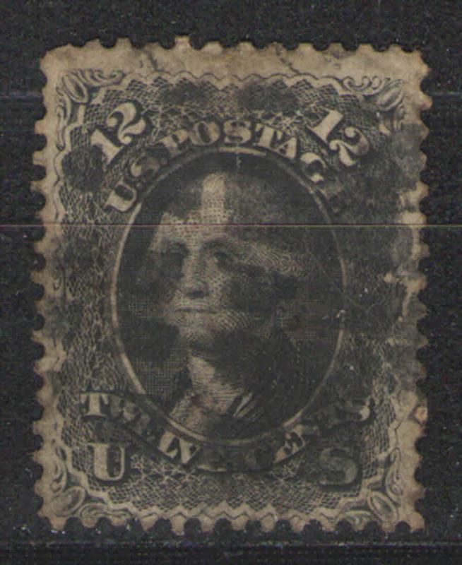 US 1861 Sc# 69  Used G - some toning and heavy cxl