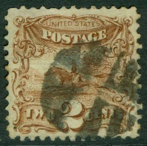 USA : 1869. Scott #113 Very Fine-Extra Fine, Used. Choice. Catalog $85.00.