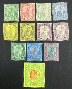 MOMEN: MONTSERRAT SG #35-47 1908-14 MINT OG H £170 LOT #62015