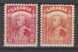 SARAWAK 1934 RAJAH 8C AND 12C