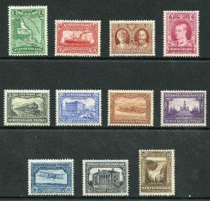 Newfoundland SG198/208 1931 Set of 11 M/Mint
