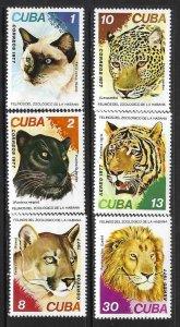 CUBA 2167-70 C266-7 MNH FAUNA A831