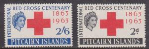 Pitcairn Islands - 1963 Red Cross Set VF-NH Sc. #36-37