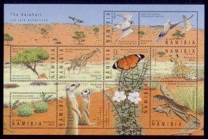 Namibia Sc# 1293 MNH Kalahari Flora & Fauna (M/S)